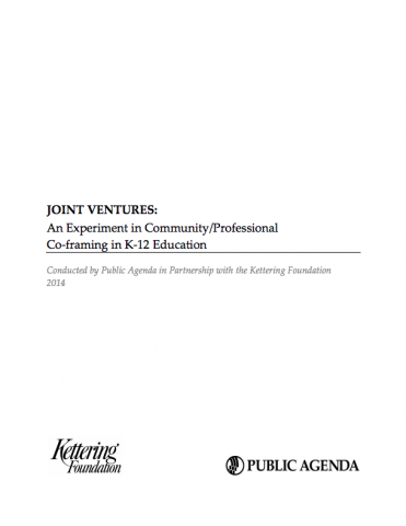 Joint Ventures: An Experiment in Community/Professional Co-framing ...